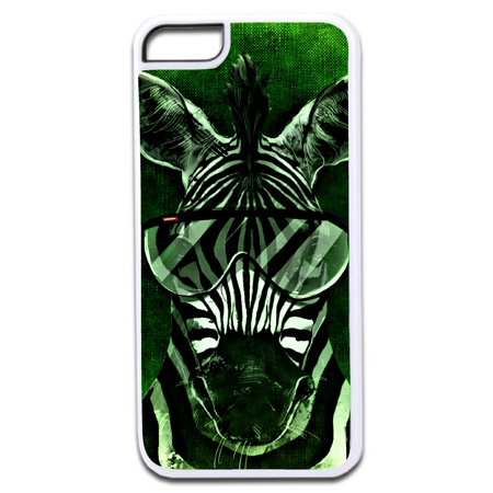 Zebra in Aviator Glasses Grunge Design White Rubber Case for the Apple iPhone 6 / iPhone 6s - iPhone 6 Accessories - iPhone 6s