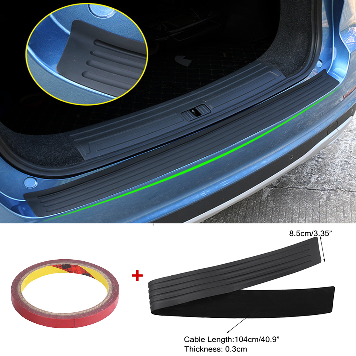 Car Rear Bumper Sill Protector Plate Cover Guard Moulding Trim For Audi VW SUV