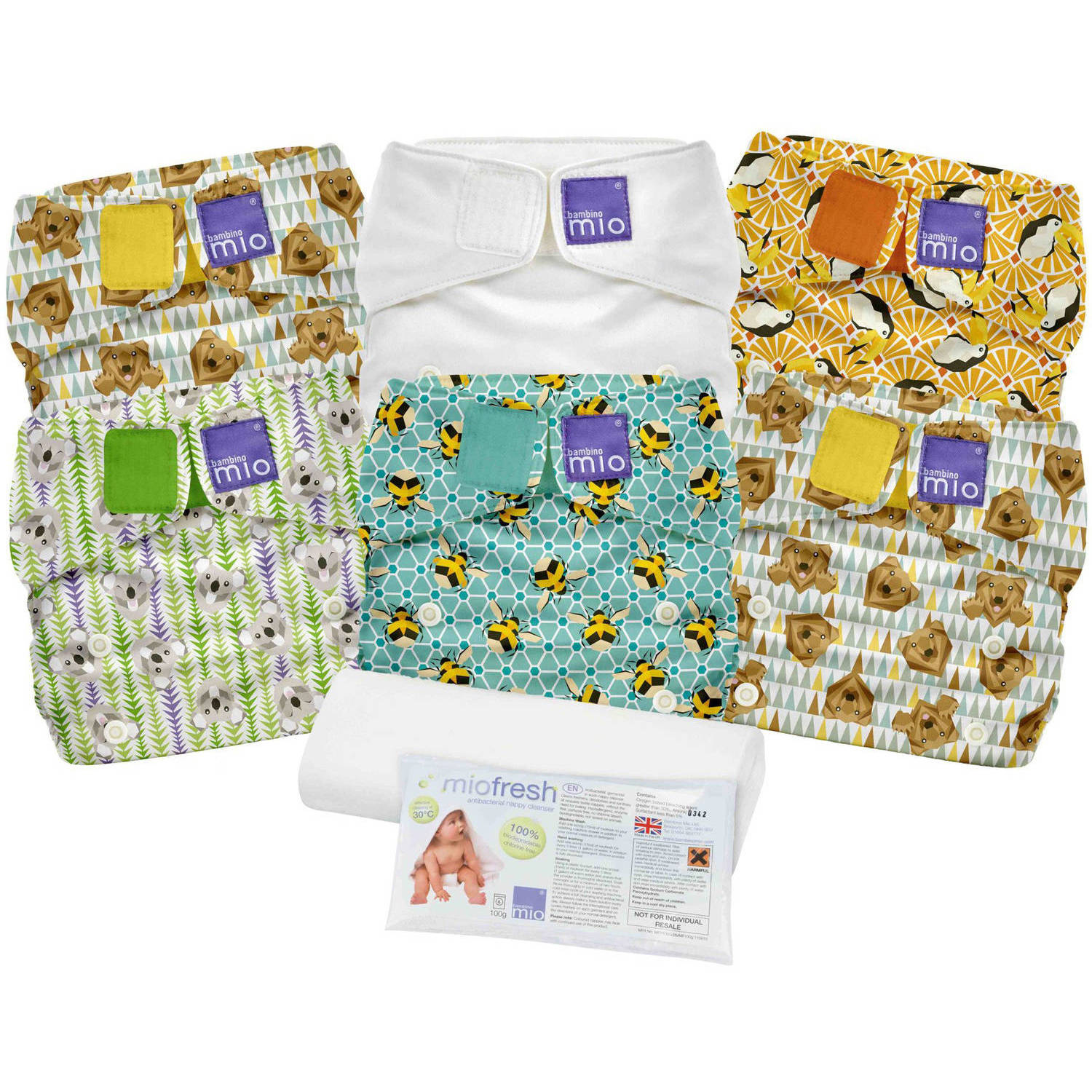 Bambino Mio Miosolo Diaper Set, (Choose Your Color)