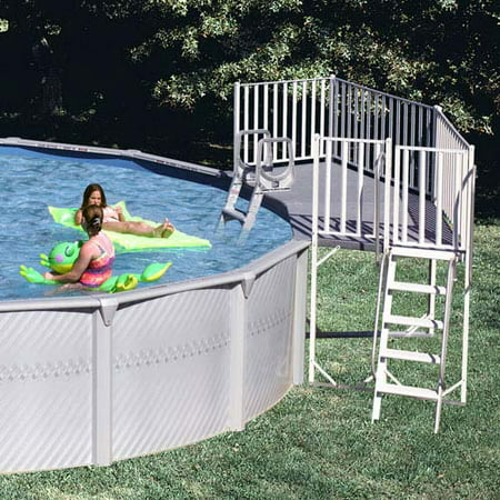 Universal fan pool deck for Above ground pool decks walmart
