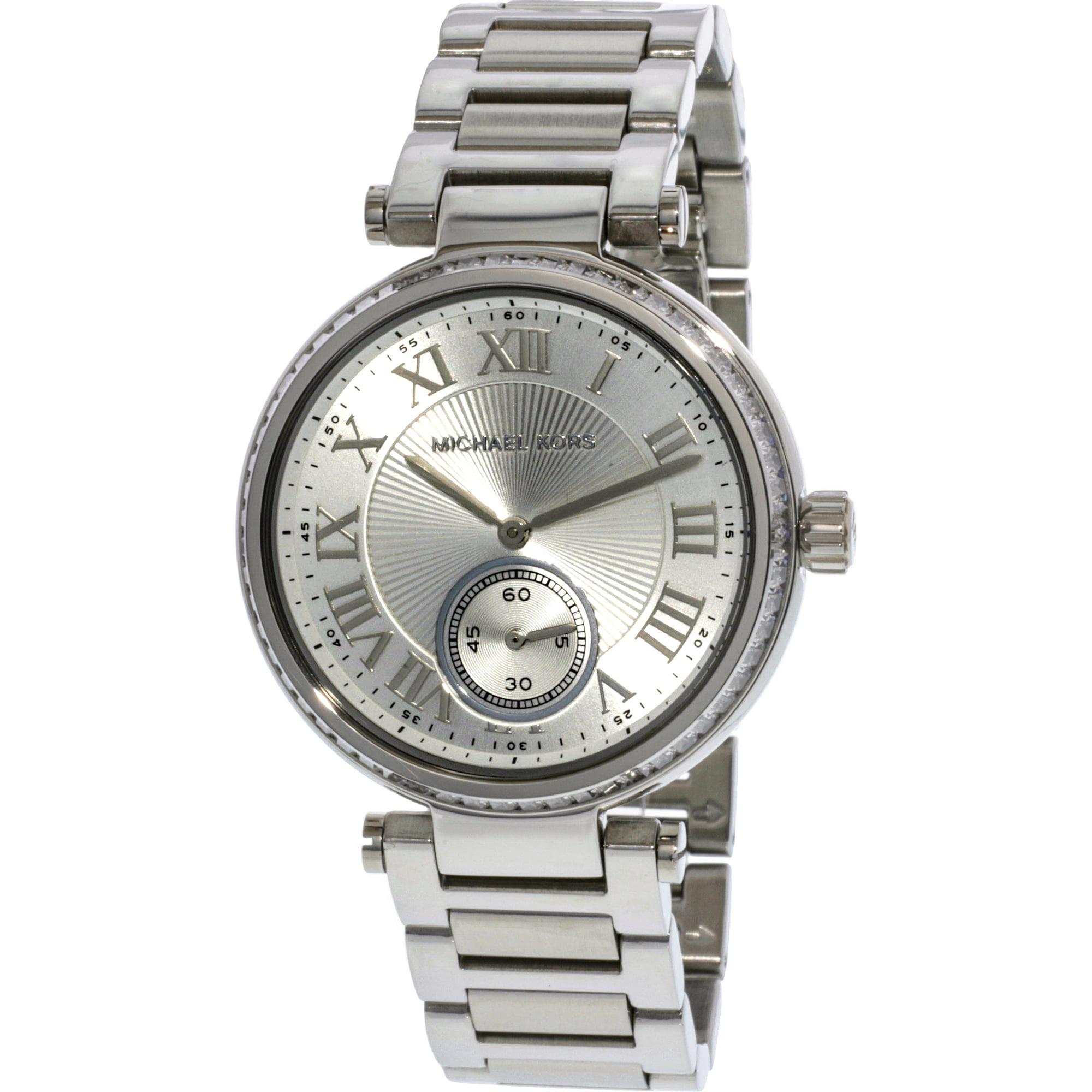 11915fe01a57 Michael Kors Women s Skylar MK5866 Silver Stainless-Steel Japanese Quartz  Fashion Watch