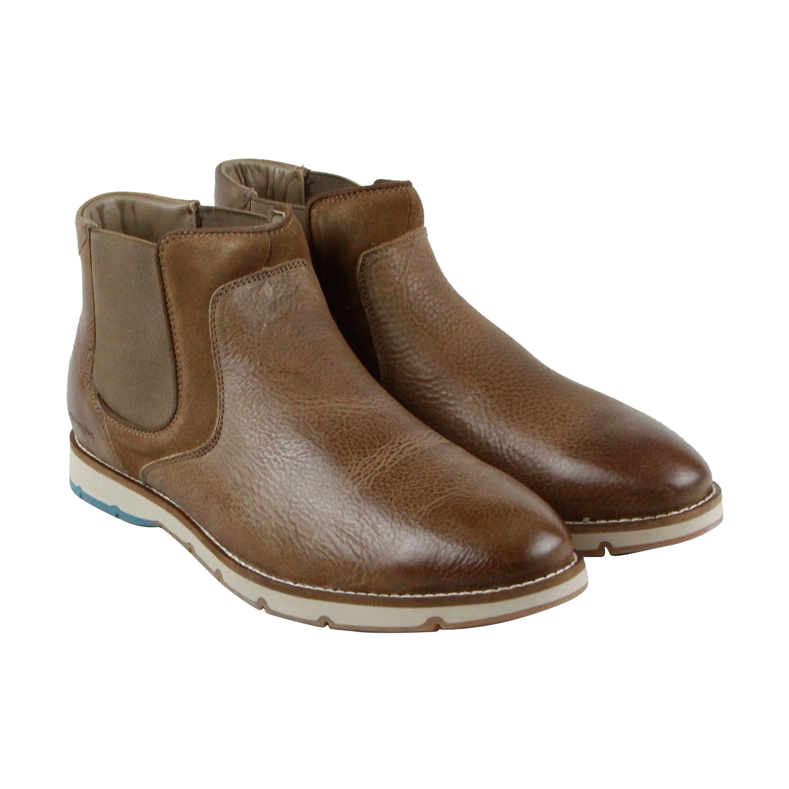 Hush Puppies Burwell Hayes Mens Brown Leather Casual Dress Boots Shoes by