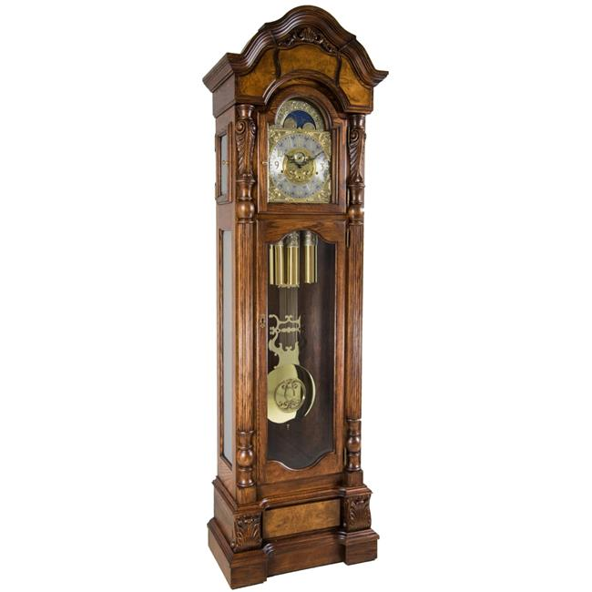 Hermle 010953041171 Anstead Grandfather Clock Tubular Chimes Dark Oak by