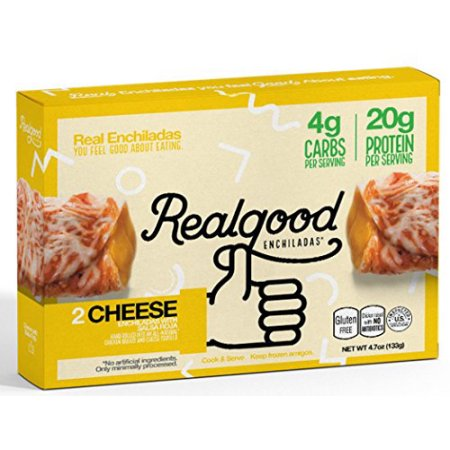 Real Good Foods Low Carb. Cheese Enchiladas (6 Count) (Good Ideas For A Halloween Party Food)