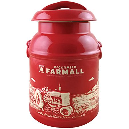 Farmall Milk Can Cookie Jar - Old Fashioned Embossed Stoneware Collectible ()