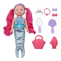 Kid Connection 12-Piece Mermaid Baby Doll Play Set