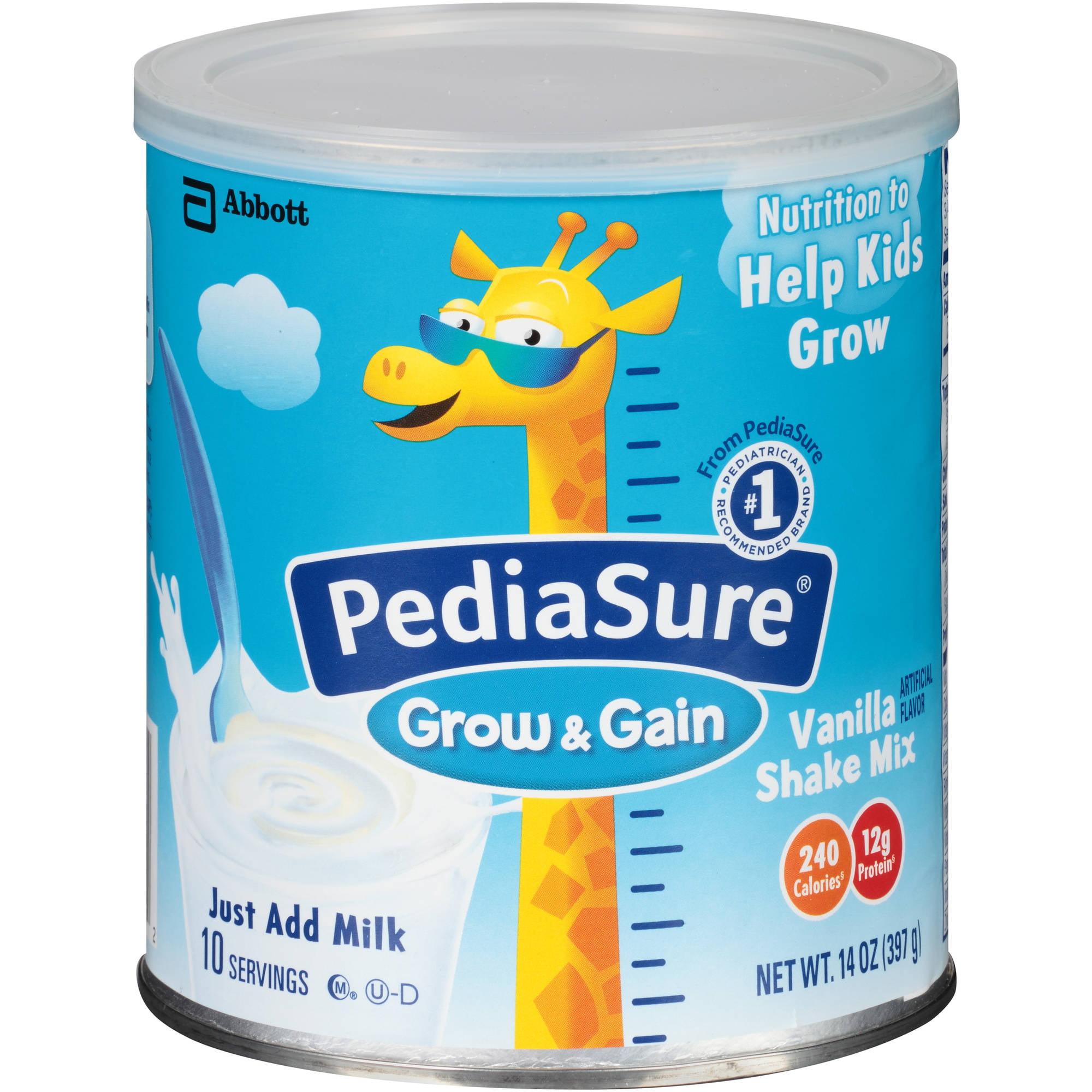 PediaSure Shake Mix, Vanilla, 14oz powder canister