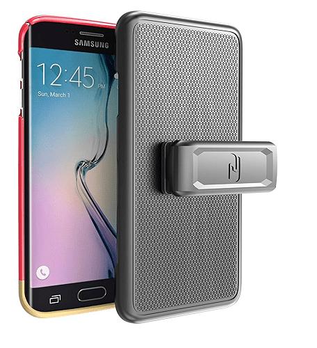 Galaxy S6 EDGE Case & Belt Clip Holster (SlimShield Series) Ultra-thin Slider Case (By Encased)