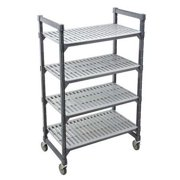 Mobile Shelving Unit, Brushed Graphite ,Cambro, EMUS244878V4580