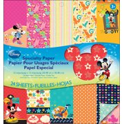"Disney Specialty Paper Pad 12""X12"" 24/Pkg-Mickey Family 12 Designs/2 Each"