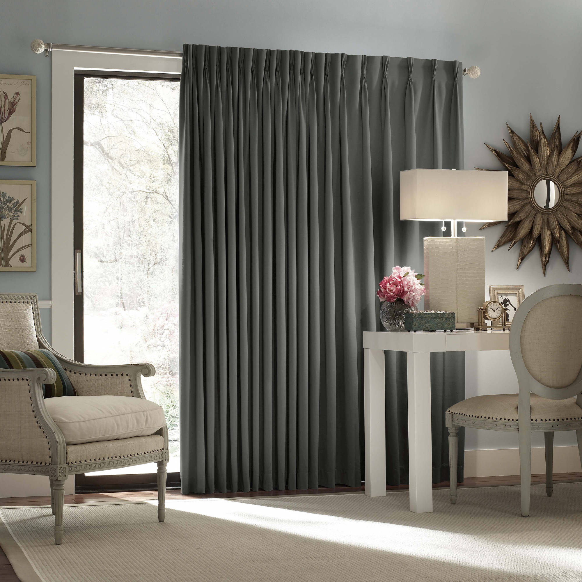 Eclipse Thermal Blackout Patio Door Curtain Panel by Ellery Homestyles