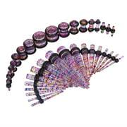 Bodyj4you 36PC Gauges Kit Ear Stretching 14G-00G Rainbow Glitter Acrylic Taper Plug Body Piercing