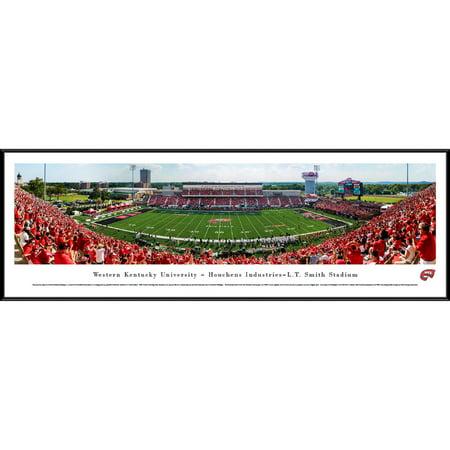 Kentucky Yard - Western Kentucky Football - 50 Yard Line - Blakeway Panoramas College Print with Standard Frame