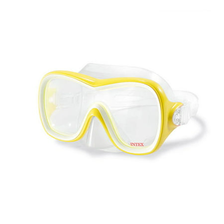 Intex Wave Rider Hypoallergenic Latex Free Mask & Easy Flow Snorkel Set (2 Pack)