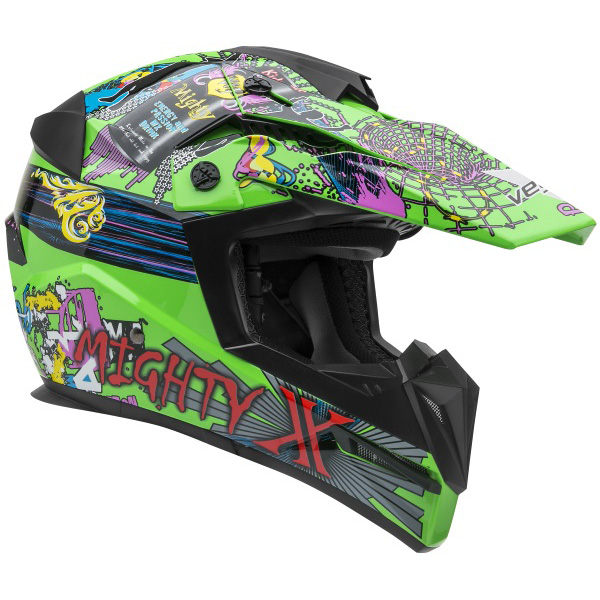Vega Mighty X Jr. Youth Super Fly Graphic Helmet, Size:SM