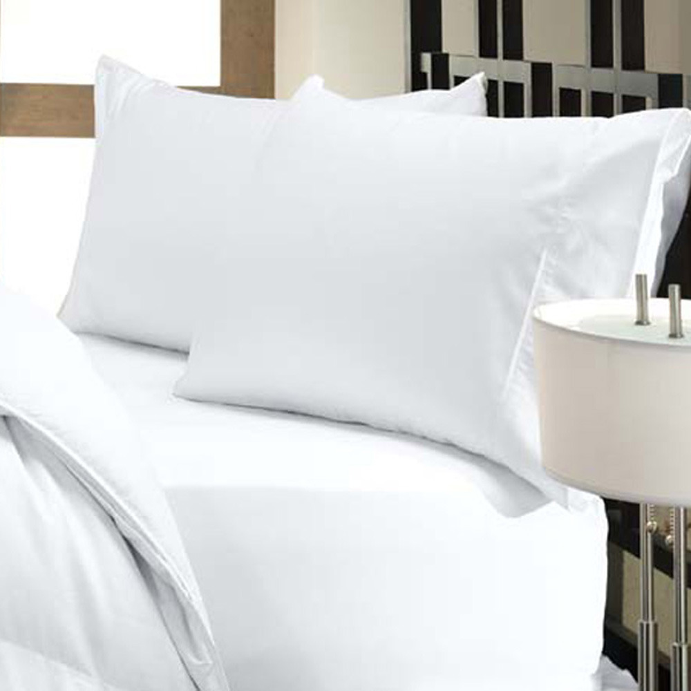 Egyptian Bedding 100% Egyptian Cotton 300 Thread Count 4 Peice Bed Sheet Set, White Solid, Olympic Queen Size