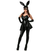 Women's Vinyl Bunny Costume