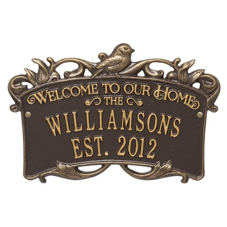 Personalized Songbird Welcome Plaque in Bronze (Bronze Plaque)
