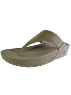 FitFlop Womens Lulu Canvas Thong Slip On Sandal Shoe