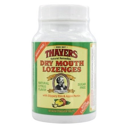 (Sugar-Free Dry Mouth Lozenges Citrus - 100 Lozenges by Thayers (pack of 4))