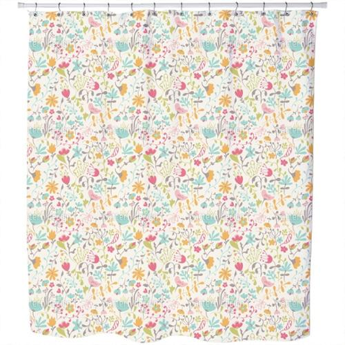 Uneekee Floral Enchantment Shower Curtain