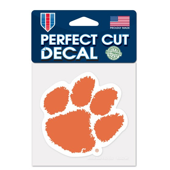 Clemson Tigers Official NCAA 4 inch x 4 inch  Die Cut Car Decal by Wincraft