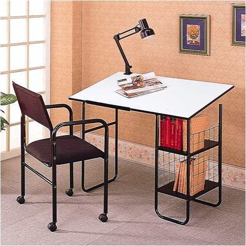 Wildon Home Pinehurst Desk with Lamp and Chair