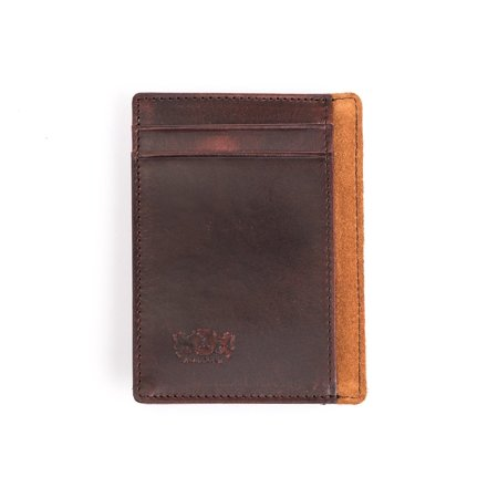 Antique Brown Leather (Avallone Men's Antique Money Clip Wallet - Brown Handmade Leather - AV004)