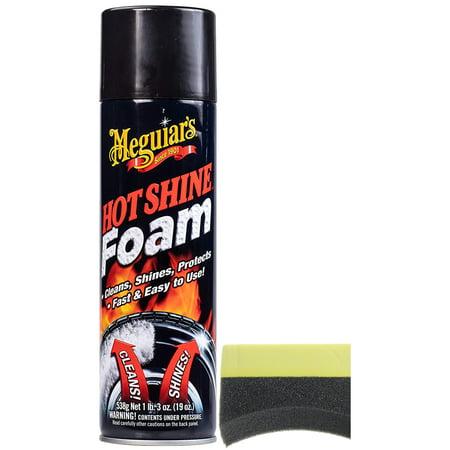 Meguiar's Hot Shine Tire Foam (19 oz) Bundle