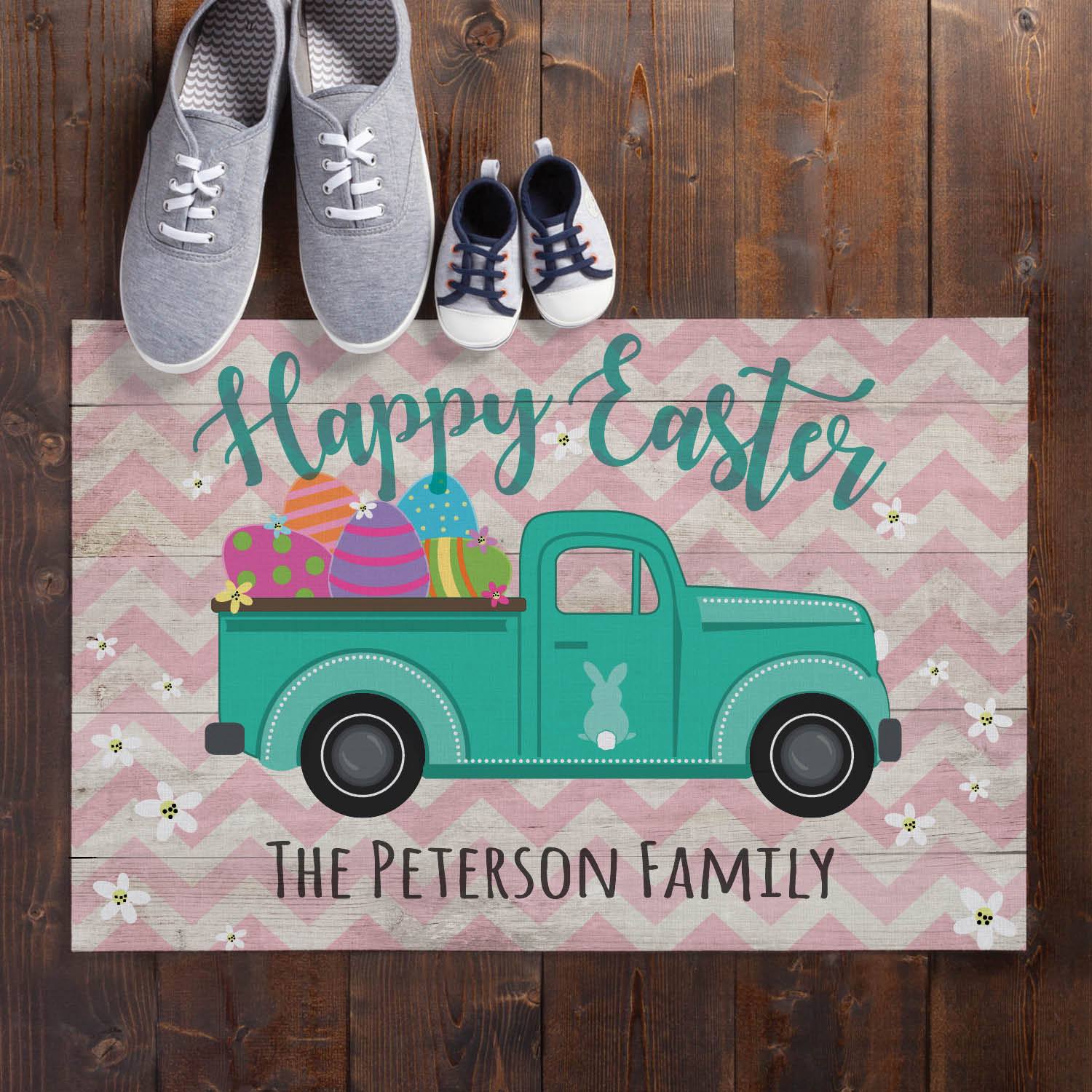 Easter Pickup Personalized Doormat