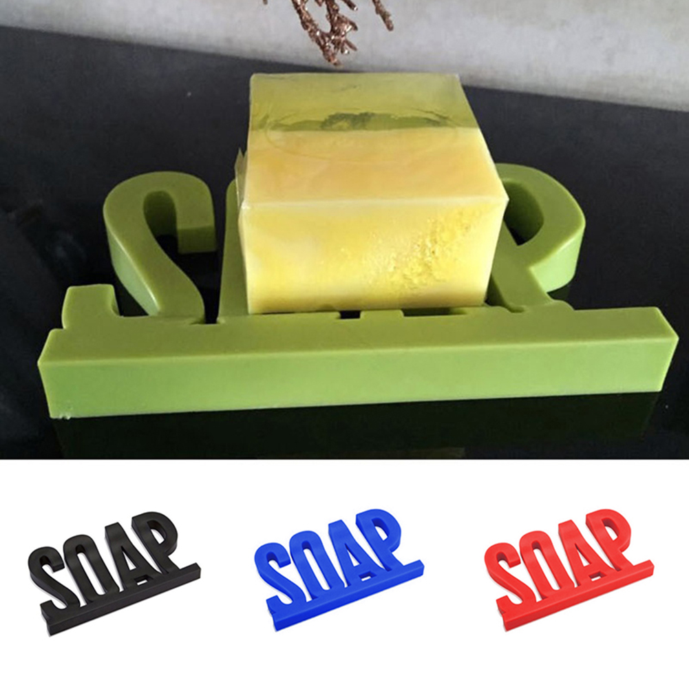 Moderna Fashion Letters Design Soap Drain Tray Rack Bathroom Plastic Storage Dish Holder