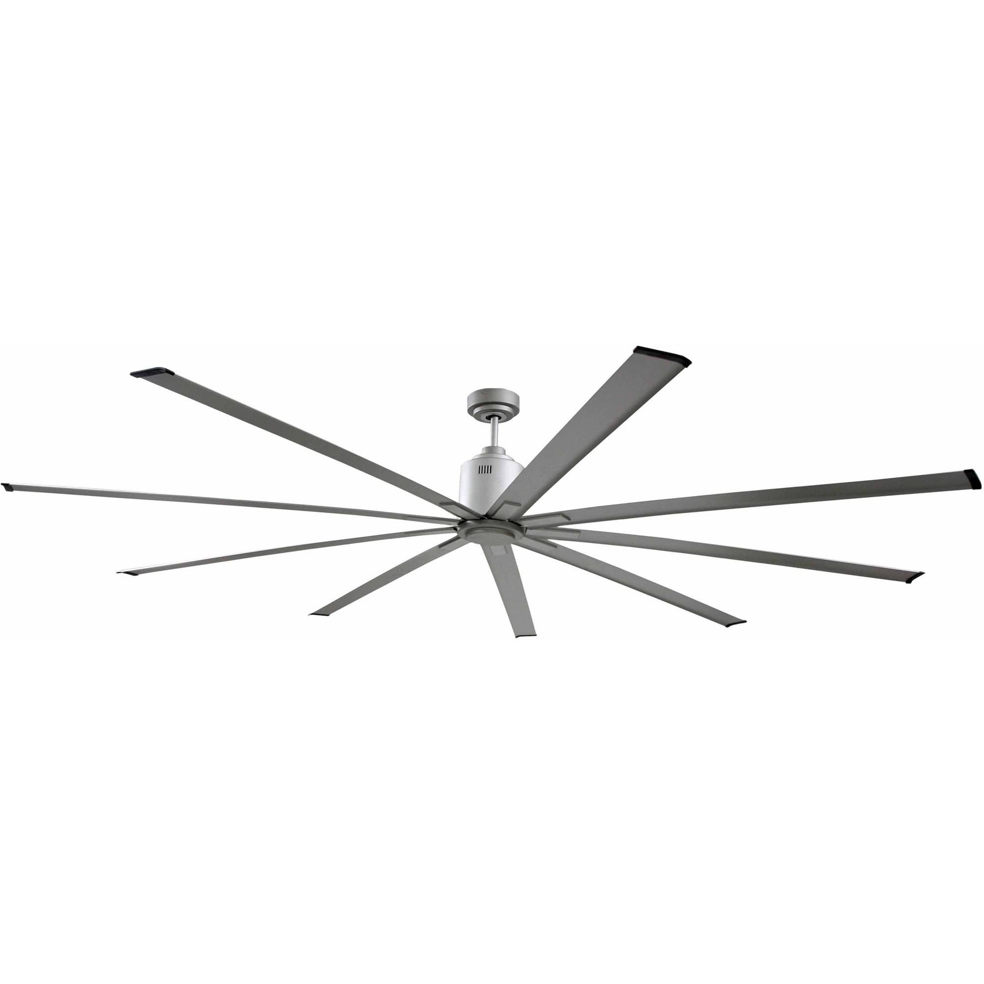 "Big Air 96"" 6-Speed Industrial Ceiling Fan in Brushed Nickel by Ventamatic, Ltd."