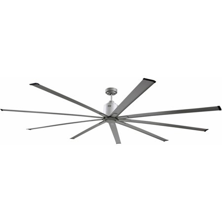"Big Air 96"" 6-Speed Industrial Ceiling Fan in Brushed Nickel"