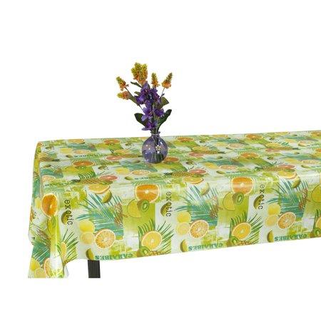 Ottomanson Vinyl Tablecloth Tropical Fruit Design Indoor