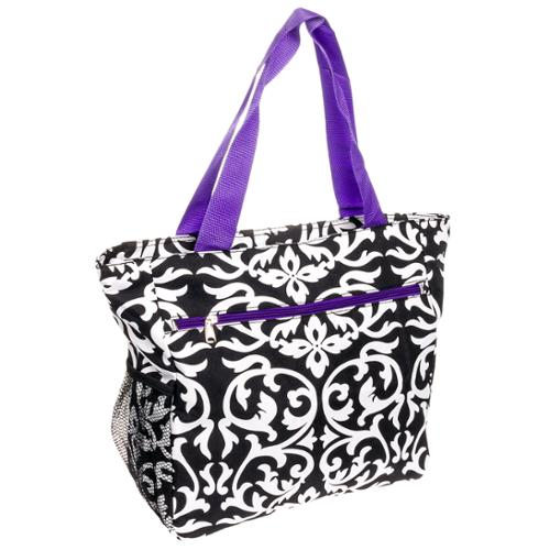 SILVERHOOKS NEW Womens Damask Traveler Beach Tote Shoulder Shopper Bag