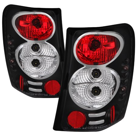 2001 Tail Light Lamp - Fits 1999-2004 Jeep Grand Cherokee Black Tail Lights Brake Lamps 2000 2001 2002