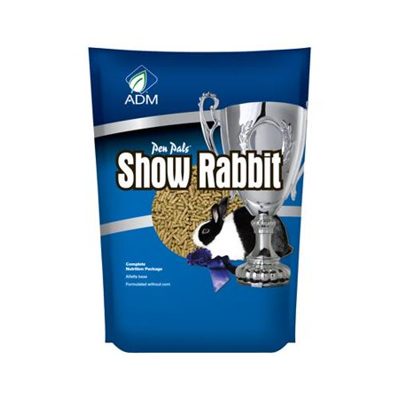 Adm Animal Nutrition 81657AAAPB Pen Pals Show Rabbit Feed, Mini-Pellet,