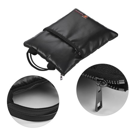 Fireproof Document Bag Water Resistant File Pouch Envelope Holder Silicone Coated Fiberglass Zipper Closure Safe Storage for Cash Money Passport Valuables - image 2 of 7