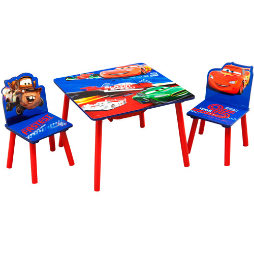 Disney Cars Toddler Table and Chair Set with Storage