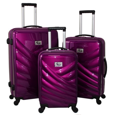 073e499af921 Veneto 3-Piece Hardside Lightweight Upright Spinner Luggage Set