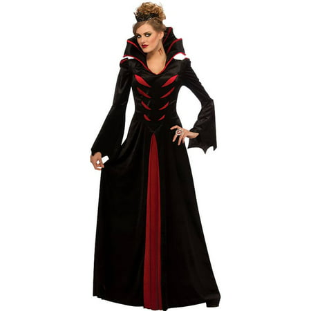 Queen of Vampiress Vampira Vampire Gothic Medieval Dress Adult Womens Costume