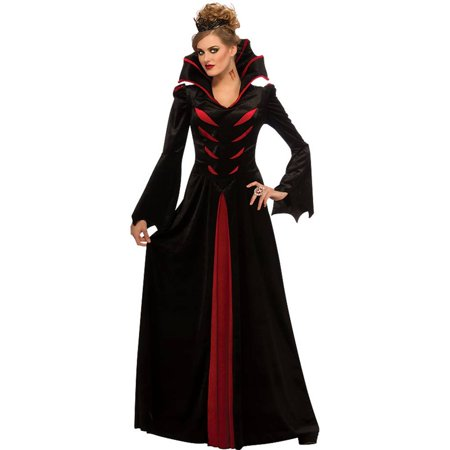 Queen of Vampiress Vampira Vampire Gothic Medieval Dress Adult Womens Costume - Mideval Dress