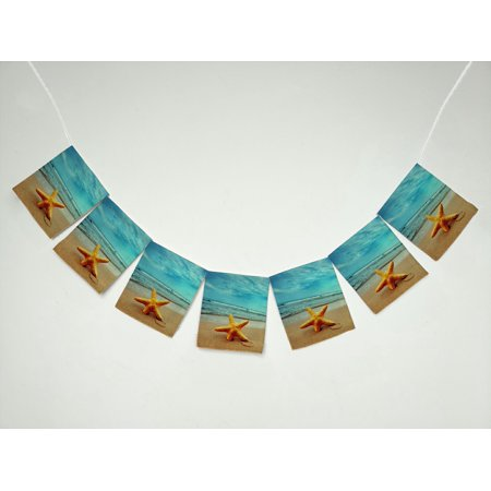 Beach Theme Parties (ZKGK Beach Theme Banner Bunting Garland Flag Sign for Home Family Party)