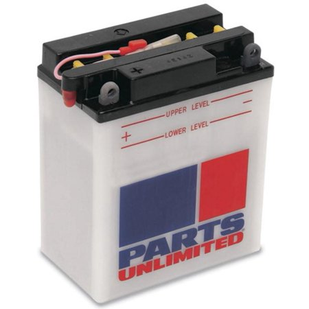 Parts Unlimited RCB14L-A2 12V Heavy Duty Battery Parts Unlimited Decals