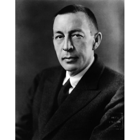 Rachmaninoff Russian Composer and Pianist Poster Print by Science Source