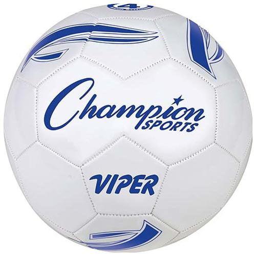 Champion Sports VIPER4 Viper Soccer Ball, Size 4, White by Champion