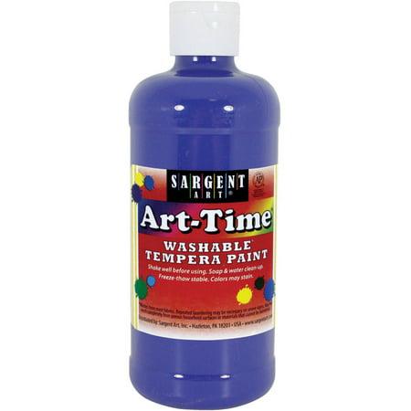 16 Oz Finger Paint (Sargent Art Tempera Paint, 16 oz, Blue )