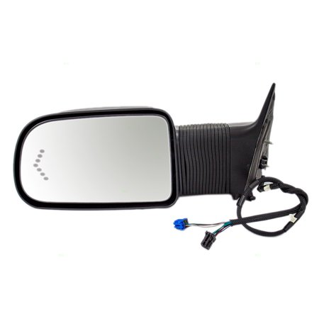 BROCK Power Extending Side View Tow Mirror Heated Signal in Glass Driver Replacement for Chevrolet Avalanche Silverado GMC Sierra Pickup Truck 19153377 Silverado Side View Mirror