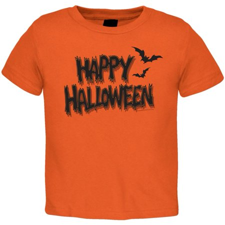Happy Halloween Toddler T-Shirt](Toddler Boy Halloween T Shirts)