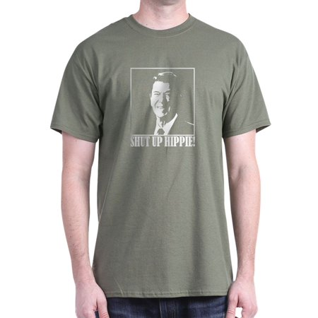 f39006eb6aef4 CafePress - Ronald Reagan Says SHUT UP HIPPIE! - 100% Cotton T-Shirt -  Walmart.com